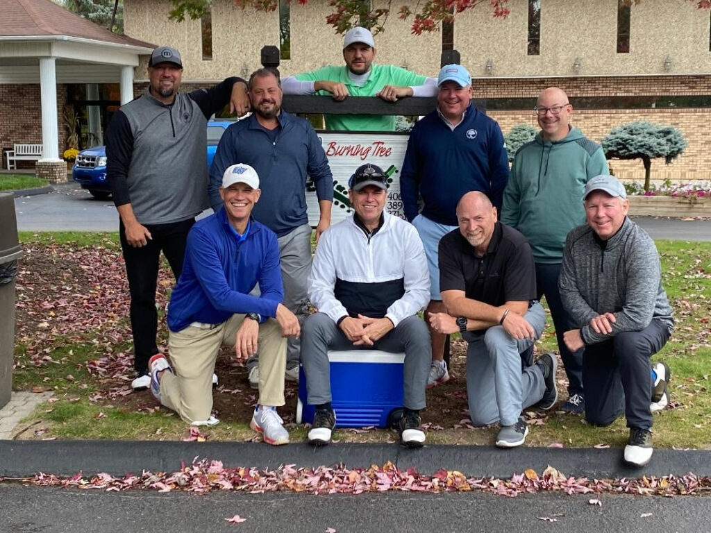 A group shot of the golfers